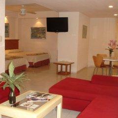 Отель y Suites Nader Мексика, Канкун - отзывы, цены и фото номеров - забронировать отель y Suites Nader онлайн комната для гостей фото 2