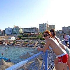 Отель King Tut Aqua Park Beach Resort - All Inclusive пляж фото 2