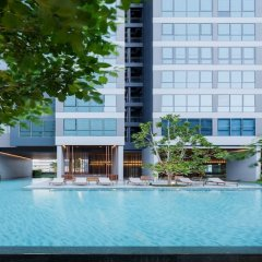 Отель Cozy One Bedroom Condo In Nana Asoke Бангкок бассейн фото 2