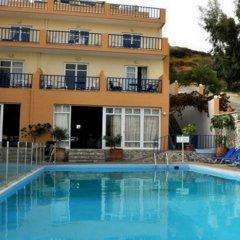 Отель Sofia Mythos Beach Aparthotel Греция, Милопотамос - 1 отзыв об отеле, цены и фото номеров - забронировать отель Sofia Mythos Beach Aparthotel онлайн бассейн фото 2