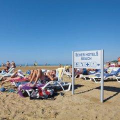 Seher Resort & Spa Турция, Сиде - отзывы, цены и фото номеров - забронировать отель Seher Resort & Spa - All Inclusive онлайн пляж