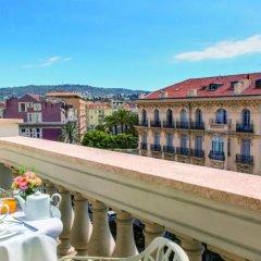 Отель Boscolo Nice Hôtel & Spa Франция, Ницца - 9 отзывов об отеле, цены и фото номеров - забронировать отель Boscolo Nice Hôtel & Spa онлайн балкон