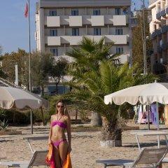 Отель Du Soleil Италия, Римини - отзывы, цены и фото номеров - забронировать отель Du Soleil онлайн пляж фото 3