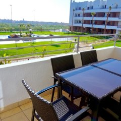 Апартаменты Apartment With 3 Bedrooms in Orihuela, With Wonderful sea View, Pool A балкон
