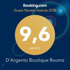 Отель D'Argento Boutique Rooms Родос с домашними животными