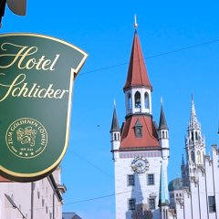 Отель Schlicker - Zum Goldenen Löwen Мюнхен фото 9