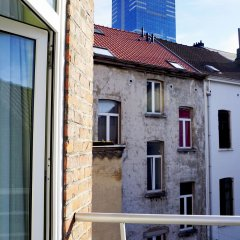 Отель Aparthotel Résidence Bara Midi Бельгия, Брюссель - отзывы, цены и фото номеров - забронировать отель Aparthotel Résidence Bara Midi онлайн балкон