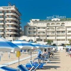 Отель Touring Римини пляж фото 2
