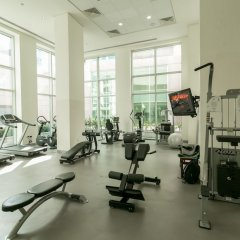 Апартаменты One Perfect Stay - Studio at Burj Views Дубай фитнесс-зал