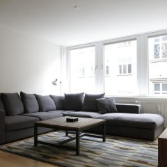 Апартаменты Luxury Apartment In the centre of 936-2 Копенгаген комната для гостей фото 5