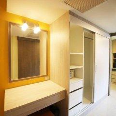 Апартаменты Trebel Service Apartment Pattaya Паттайя сейф в номере