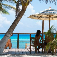 Отель Petit Lafitte пляж фото 2