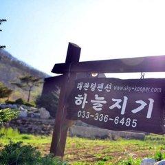 Отель Daegwalnyeong Sky Keeper Pension Южная Корея, Пхёнчан - отзывы, цены и фото номеров - забронировать отель Daegwalnyeong Sky Keeper Pension онлайн приотельная территория