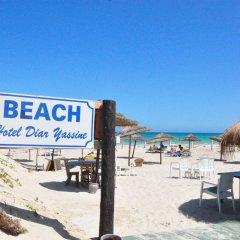 Отель Diar Yassine Тунис, Мидун - отзывы, цены и фото номеров - забронировать отель Diar Yassine онлайн пляж фото 2