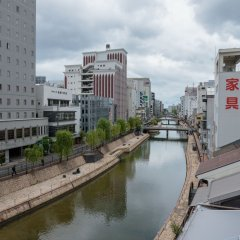 Fukuoka Hana Hostel Хаката приотельная территория