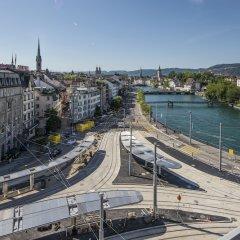 Отель Central Plaza Hotel Швейцария, Цюрих - 5 отзывов об отеле, цены и фото номеров - забронировать отель Central Plaza Hotel онлайн балкон