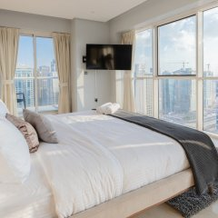 Отель Stunning 4 BDR Penthouse in Dubai Marina комната для гостей фото 4