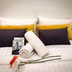 Click Hostel Бангкок комната для гостей