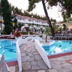 Отель Porfi Beach Hotel Греция, Ситония - 1 отзыв об отеле, цены и фото номеров - забронировать отель Porfi Beach Hotel онлайн бассейн фото 2