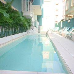 Отель Residence Beach Paradise Римини бассейн фото 3