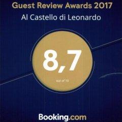 Отель Al Castello di Leonardo Капральба с домашними животными