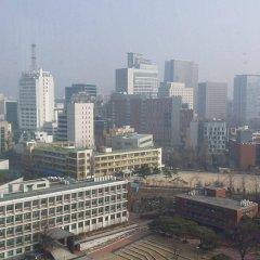 Отель Vabien Suite 1 Serviced Residence Южная Корея, Сеул - отзывы, цены и фото номеров - забронировать отель Vabien Suite 1 Serviced Residence онлайн балкон