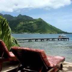 Отель Fare Vaihere Французская Полинезия, Муреа - отзывы, цены и фото номеров - забронировать отель Fare Vaihere онлайн пляж фото 2