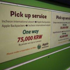 Отель Apple Backpackers городской автобус