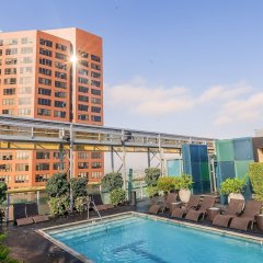 Отель Wilshire Condos By Barsala Лос-Анджелес вид на фасад