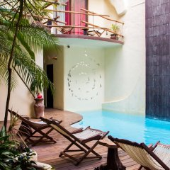 Отель Kinbe Deluxe Boutique Плая-дель-Кармен бассейн фото 2