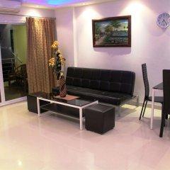 Апартаменты Wongamat Privacy By Good Luck Apartments Паттайя комната для гостей фото 3