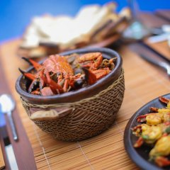 Отель Saffron & Blue - an elite haven Шри-Ланка, Косгода - отзывы, цены и фото номеров - забронировать отель Saffron & Blue - an elite haven онлайн питание фото 3