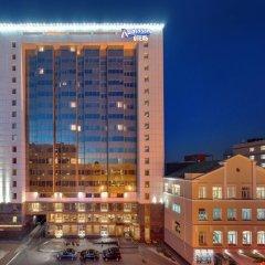 Гостиница Radisson Blu Belorusskaya вид на фасад фото 2