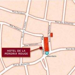 Отель De La Perdrix Rouge Париж парковка