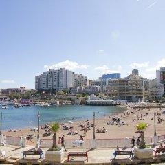 Отель Nula Apartments Мальта, Сан Джулианс - отзывы, цены и фото номеров - забронировать отель Nula Apartments онлайн пляж фото 2