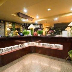 Отель Diamond City Hotel Таиланд, Бангкок - отзывы, цены и фото номеров - забронировать отель Diamond City Hotel онлайн интерьер отеля