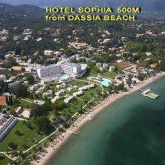 Отель Sophia Hotel Греция, Корфу - отзывы, цены и фото номеров - забронировать отель Sophia Hotel онлайн пляж