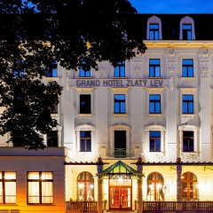 Отель Clarion Grand Zlaty Lev Либерец вид на фасад