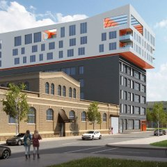 Отель SoBe Downtown Columbus Apartments США, Колумбус - отзывы, цены и фото номеров - забронировать отель SoBe Downtown Columbus Apartments онлайн вид на фасад фото 6
