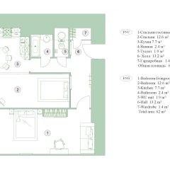 Апартаменты Feelathome на Невском Апартаменты с различными типами кроватей фото 13