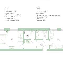 Апартаменты Feelathome на Невском Апартаменты с различными типами кроватей фото 18