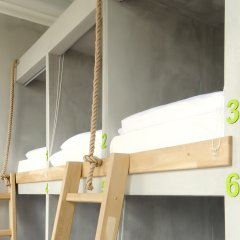 Хостел Джедай Кровать в общем номере с двухъярусной кроватью