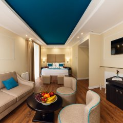 Гостиница Голубая Лагуна Номер Делюкс с различными типами кроватей фото 14