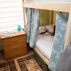 Хостел Рус – Парк Победы Кровать в общем номере с двухъярусной кроватью фото 11