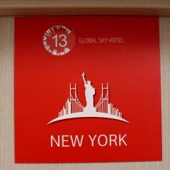 Мини-Отель Global Sky Стандартный номер с различными типами кроватей фото 9