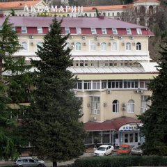 Гостиница Пансионат Аквамарин вид на фасад