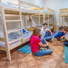 БМ Хостел Кровать в общем номере с двухъярусной кроватью фото 9