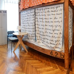 Хостел Архитектор Кровать в общем номере с двухъярусной кроватью фото 5