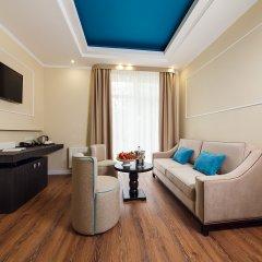 Гостиница Голубая Лагуна Номер Делюкс разные типы кроватей фото 9