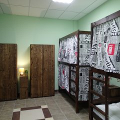 Хостел №1 Электрозаводская Кровать в мужском общем номере с двухъярусной кроватью фото 6